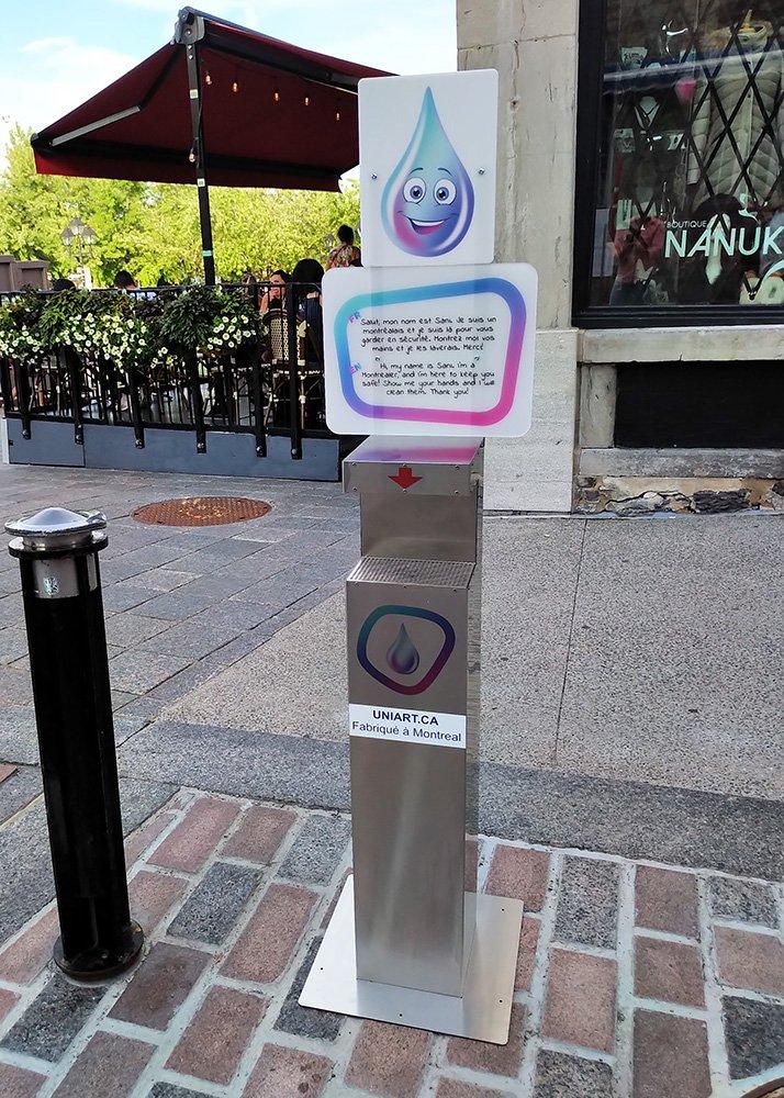 Hand sanitizer dispenser for cultural festivals
